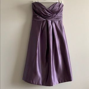 Bill Levkoff purple satin dress
